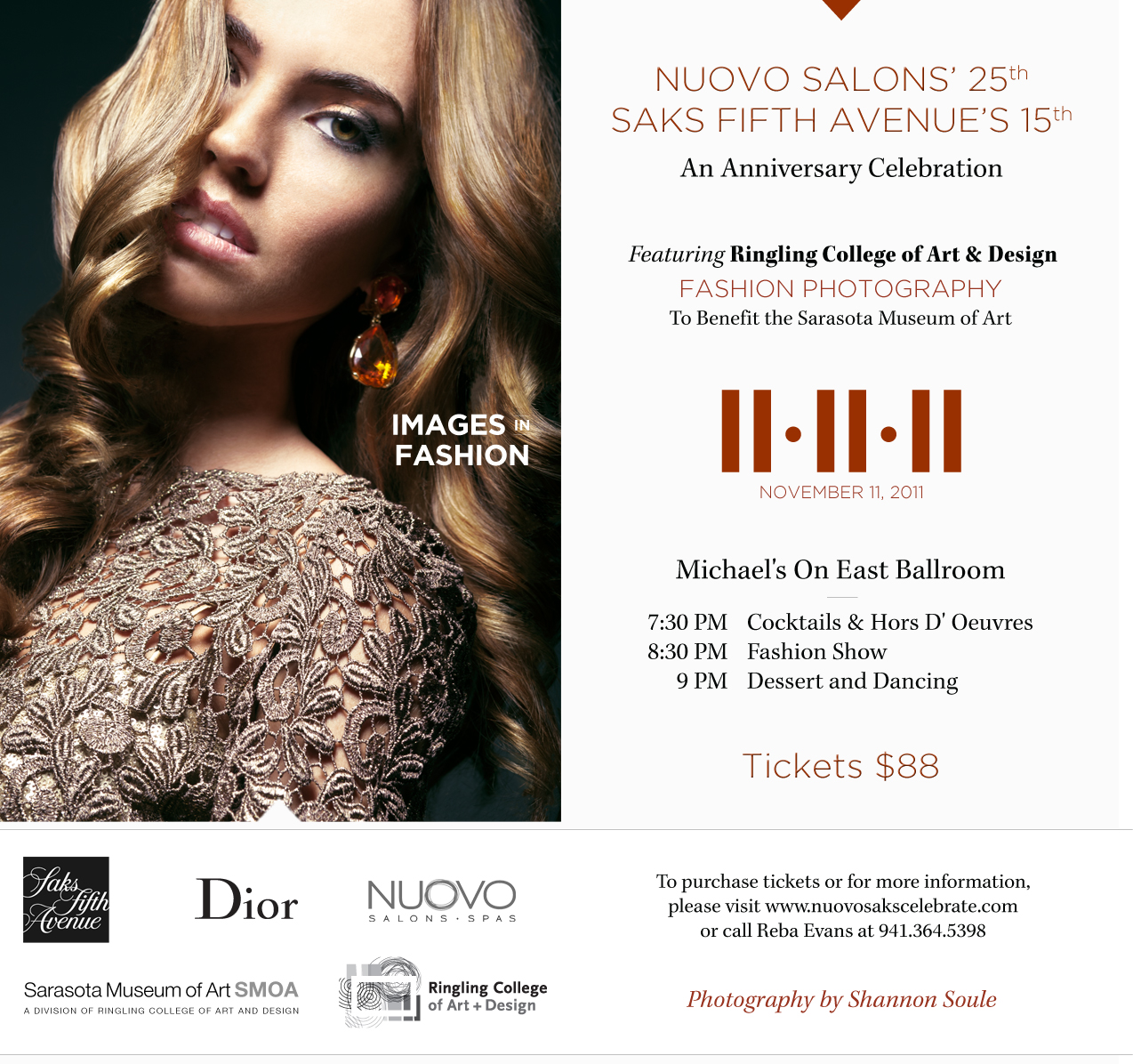 An Anniversary Celebration, Fashion Photography & Benefit Event