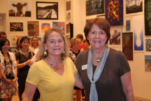 Pine View art teacher Retsey Lauer with Education Foundation Executive Director Susan Scott.