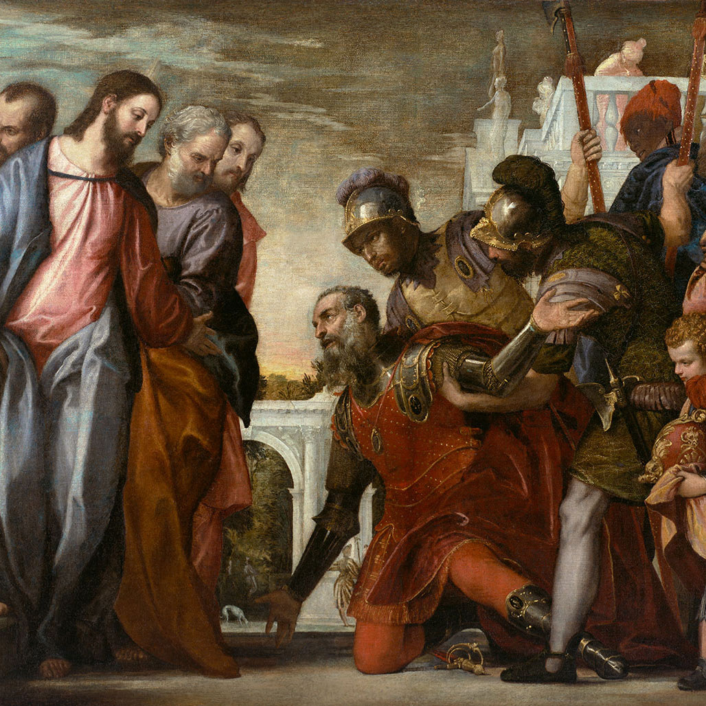 Christ and the Centurion from Ringling Museum's Paolo Veronese, A Master and His Workshop in Renaissance Venice – 300 Words by Tim Jaeger