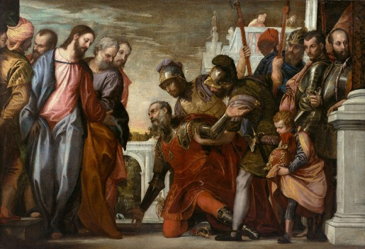 Paolo Veronese, Christ and the Centurion, ca. 1575, oil on canvas, 142.3 x 208.3 cm (56 x 82 in), collection of The Nelson-Atkins Museum of Art, Kansas City, Mo., William rockhill Nelson Trust, 31-73