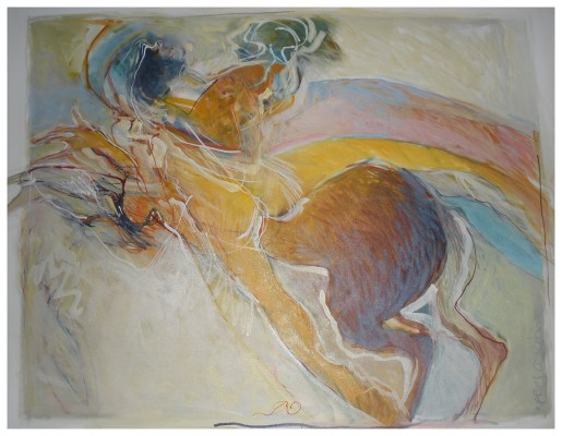 "Apres Rodin, 2011, oil on canvas, 40"" x 48"""