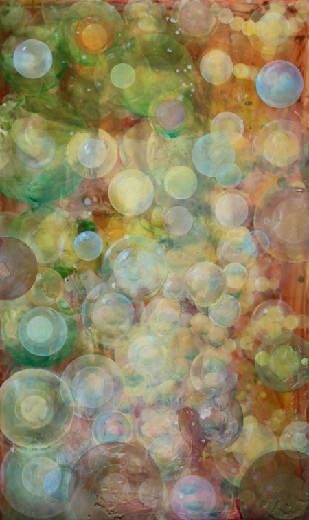 "Erin Parish, Winter Has Been Conquered, 2010, oil and resin on canvas,  60"" x 36"""