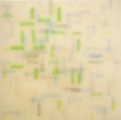 "Michael Solomon, Memoria de Seville, 2012, watercolor on papers infused with epoxy, mounted on panel, 36"" x 36"""