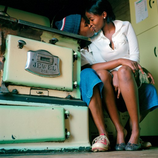 Zanele Muholi Katlego Mashiloane and Nasipho Lavuta, Ext. 2, Lakeside, Johannesburg, from the series Being, 2007 Lambda print 30 x 30 inches Courtesy of the artist and Yancey Richardson Gallery, New York