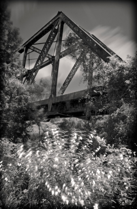 """Willow Bridge""  Abandon railroad trestle bridges left to decay, sits today with the natural patina of time, unmarred by graffiti and beer cans due to its remote location."