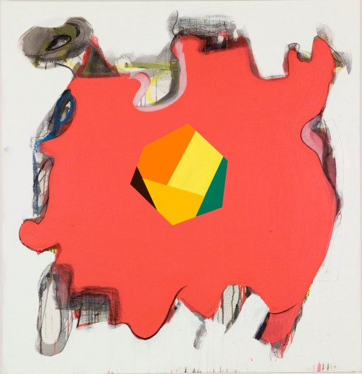 """Peter Plagens, Get In There Fast, 2010, mixed media on canvas, 54"""" x 52"""""""