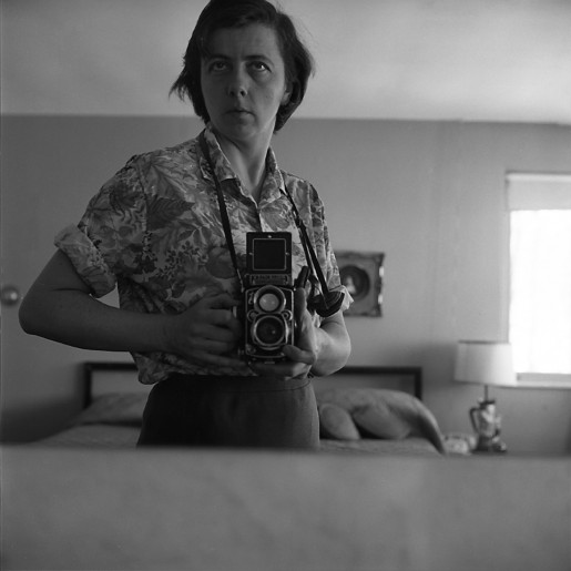 Highland Park, IL (Self-Portrait, Bedroom Mirror), January 1965, Vivian Maier