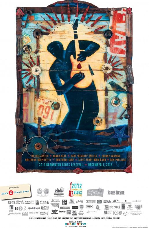 2012 Bradenton Blues Festival Poster by Mary GrandPre