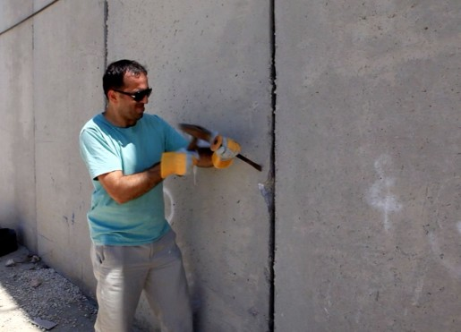 Khaled Jarrar, Concrete, 2012 (stills), video 1 minute, 52 seconds, Courtesy of the artist and Ayyam Gallery Beirut, Damascus, Dubai, London, Jeddah