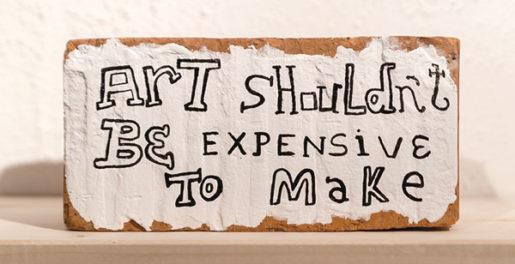 Tonel, Hacer arte no debería ser caro, 2014. (Detail)